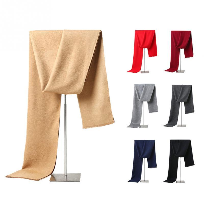 aed3ebca15c Trendy Autumn Winter Designer Cotton Men Scarf Solid Color Scarves Wrap  Shawl Homme Double Sided Warm Scarf Scarves Cheap Scarves Trendy Autumn  Winter ...