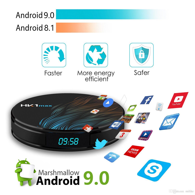 Android TV Box 9.0 4 gb 64 gb 4 k Quad Core 5 g Wifi Smart Media Player HK1 MAX RK3328 32 GB 16 GB HDMI DLNA compatible