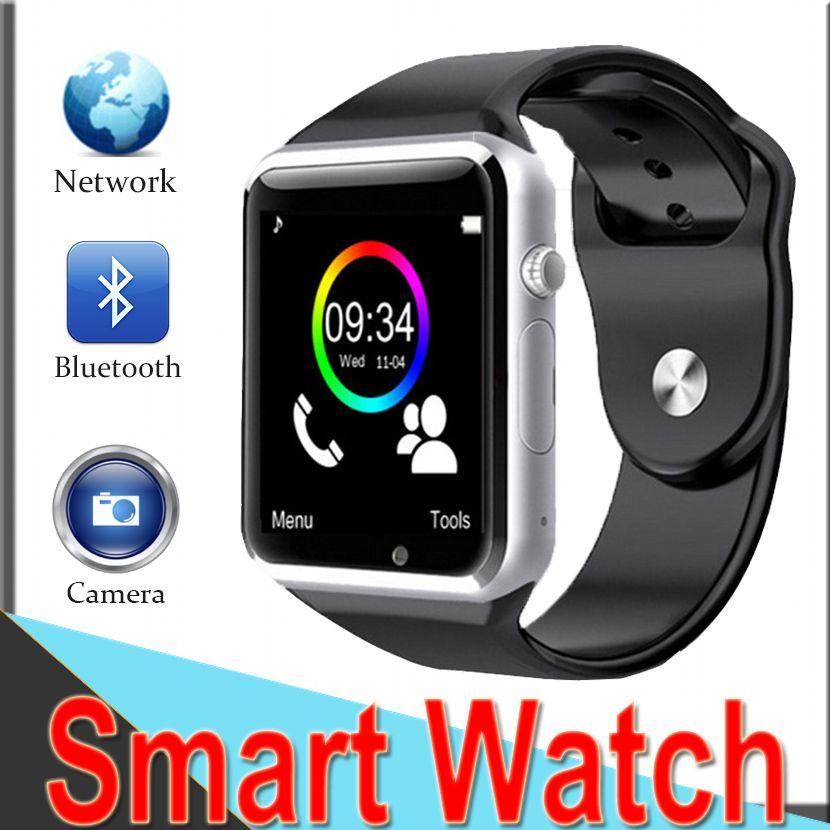 7b369dc5bf1d9 Reloj Movil SmartWatch A1 Apple Watch Bluetooth SmartWatch Reloj De Pulsera  Sport Podómetro Llamadas Con SIM Cámara Reloj Inteligente Para Android  Teléfono ...
