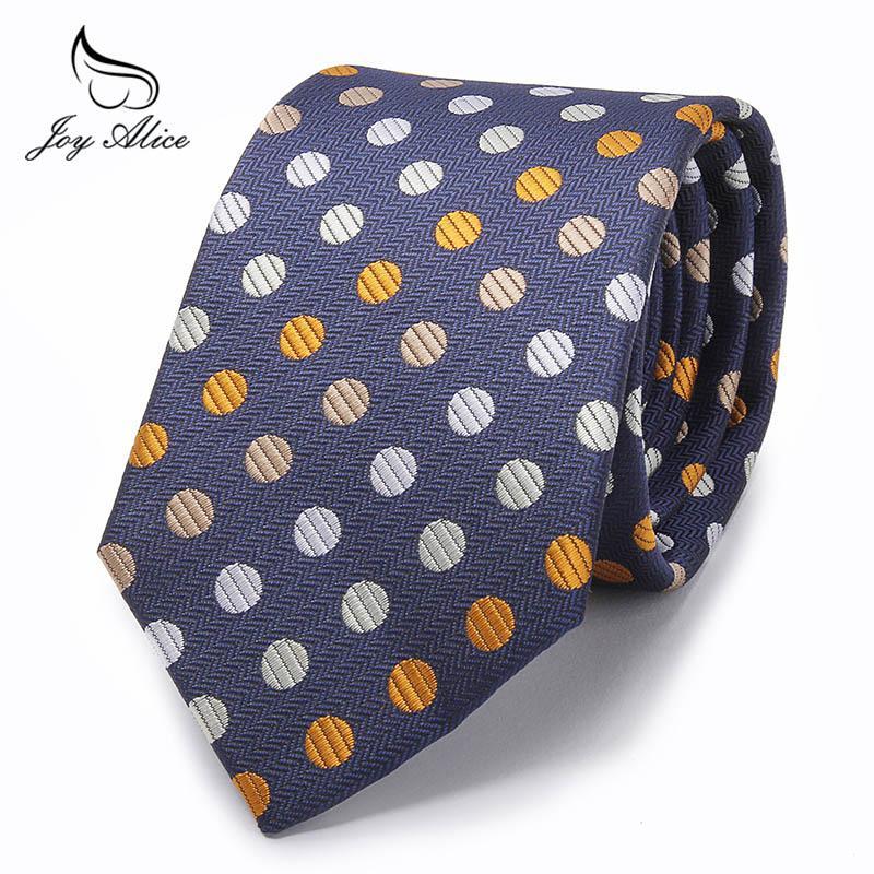 69daf0f32e26 8cm Width Ties For Men's Black Blue Dot Wedding Neck Tie Slim Skinny Male  Necktie Polyester Commercial Cravat Men's Ties & Handkerchiefs Cheap Men's  Ties ...