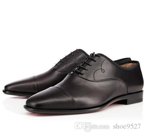 pretty nice efd11 49158 Hochzeits-Kleid-Schuhe für Mann rote untere Schuhe Olympio / Viking echtes  Leder Quadrat Zehe gut Business Schuhe Herren Größe: 40-47