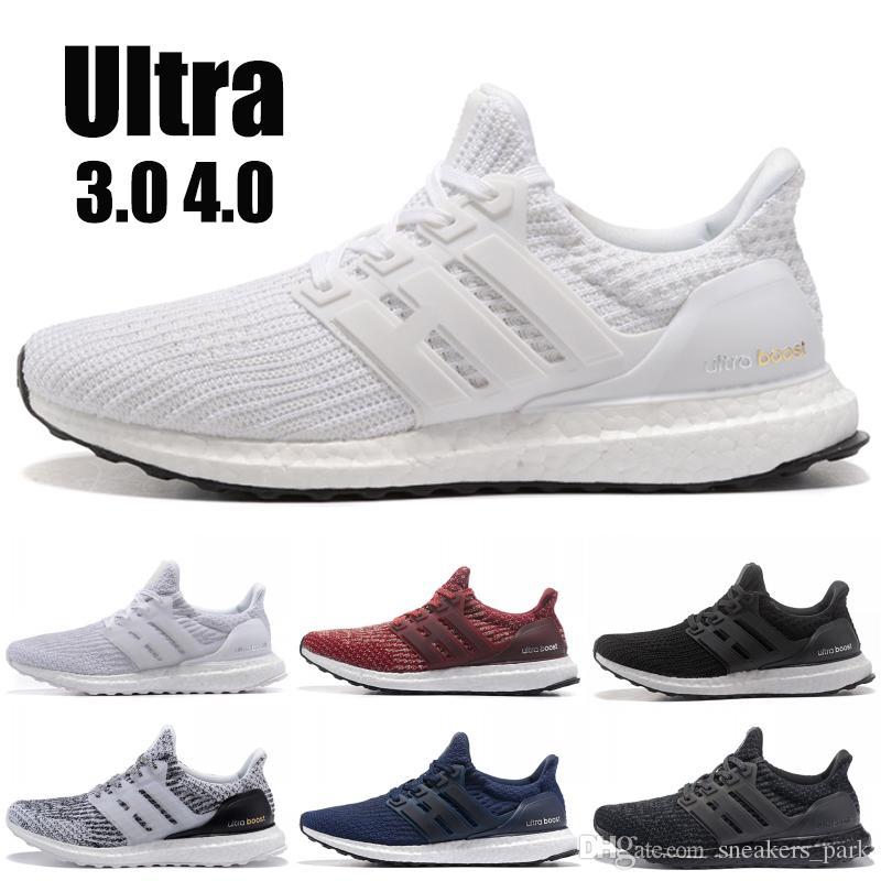 2019 adidas yeezy Ultra boost 3.0 4.0 Zapatillas de running para hombre La mejor calidad Ultraboost Oreo Grey Designer Shoes Mujer Zapatillas de