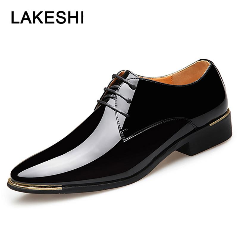 246651f76c5 2019 New Mens Dress Shoes Men Wedding Shoes Fashion Formal Petent Leather  Oxford Business Plus Size Male Oxfords Loafer Shoes Shoes Uk From Lilychoo