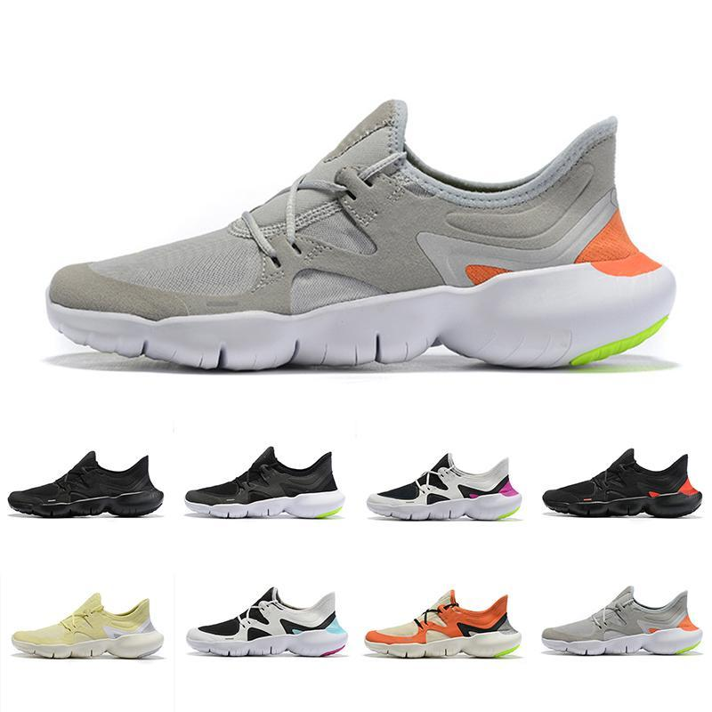 2019 Newest Free 5RN Mens Running Shoes Male Designer Sports Sneakers Summer Cool Breathable RUN men Women Lightweight Knit Shoes 36-45GHTRF