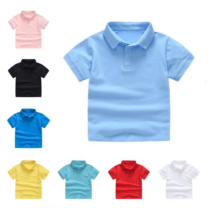 e4e174d5ec Compre Crianças Roupas Meninos T Shirts Tops De Verão Camisas Polo Uniforme  Meninas Da Criança Uniforme T Shirt De Manga Curta MMA1544 De B2b_baby, ...