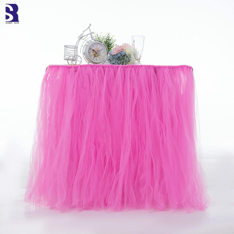 2019 Sunnyrain Tulle Table Skirt For Wedding Dessert Table