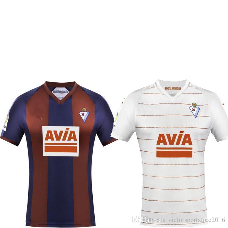 Compre 18 19 Eibar Camisa De Futebol Em Casa De 2018 2019 Sergi Enrich Joan  Marc Cardona Pablo De Blasis Kike Camisas De Futebol Personalizado De Alta  ... 46192c622166e