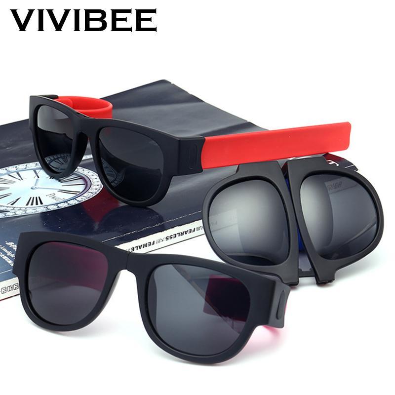 6e7d881a9ae Fancy Slap Wristband Men Polarized Wrist Sunglasses Folding Slapsee Foldable  Brand Design For Women Roll Bracelet Sun Glasses C19022501 Eyewear Designer  ...