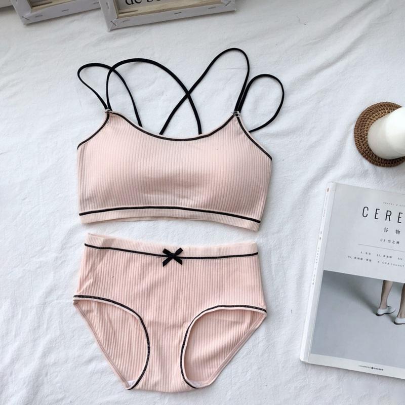 1cd0fef479a 2019 EFINNY Women Bra Set Comfortable Female Underwear Wireless Lounge Wear  Black White Cotton Bras Sets Lingerie From Clothfirst, $35.01 | DHgate.Com