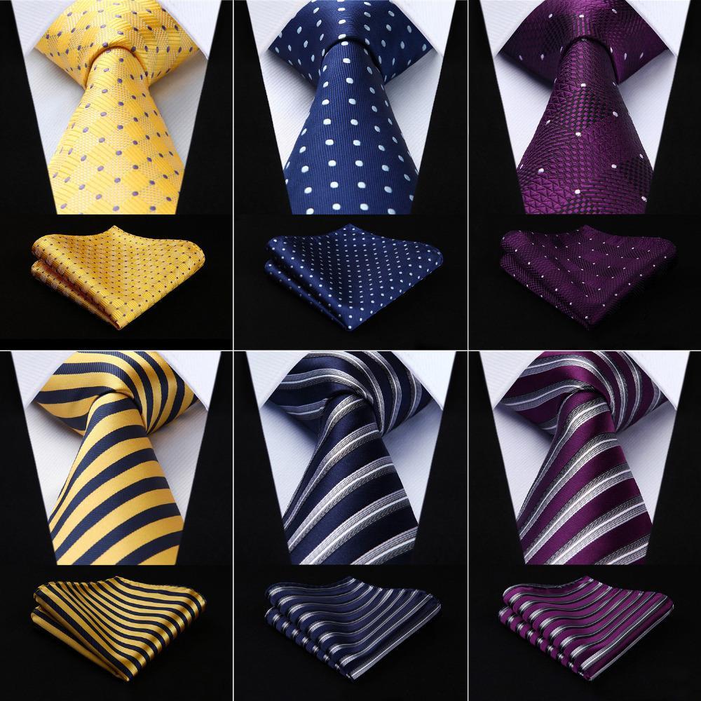 c8e989606edb Men Tie Necktie Pocket Square Classic Party Wedding Fashion Striped Polka  Dot 3.4Silk Woven Wedding Handkerchief Set#RS1 D19011004 Tie A Tie Bow Ties  From ...