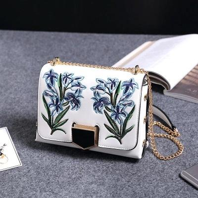 W&M Chinese Style Embroidery Jacquard PU leather Fashion Bags women Flap handbag Crossbody Shoulder Bag Tote femininas Bolsa