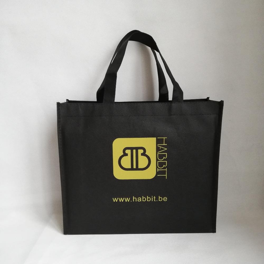 Wholesale Custom Printed Company Logo Reusable Non Woven Shopping Bags  Fabric Grocery Tote Bag Beach Bags Shopping Bags From Ajkobeshoes d326bf2f0505