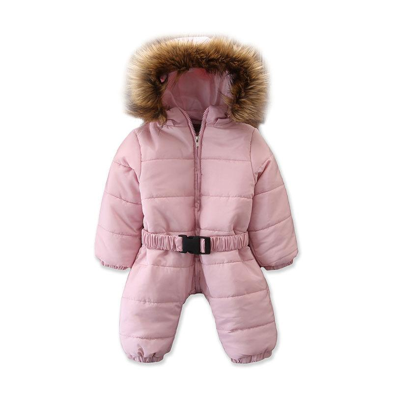 623c46ec7a5 Emmababy 2019 Hot Toddler Baby Girl Winter Thick Romper Hooded Jumpsuit  Coat Outfit Cute Warm Parkas 6M 3T Winter Coats For Junior Girls Boys Down  Winter ...
