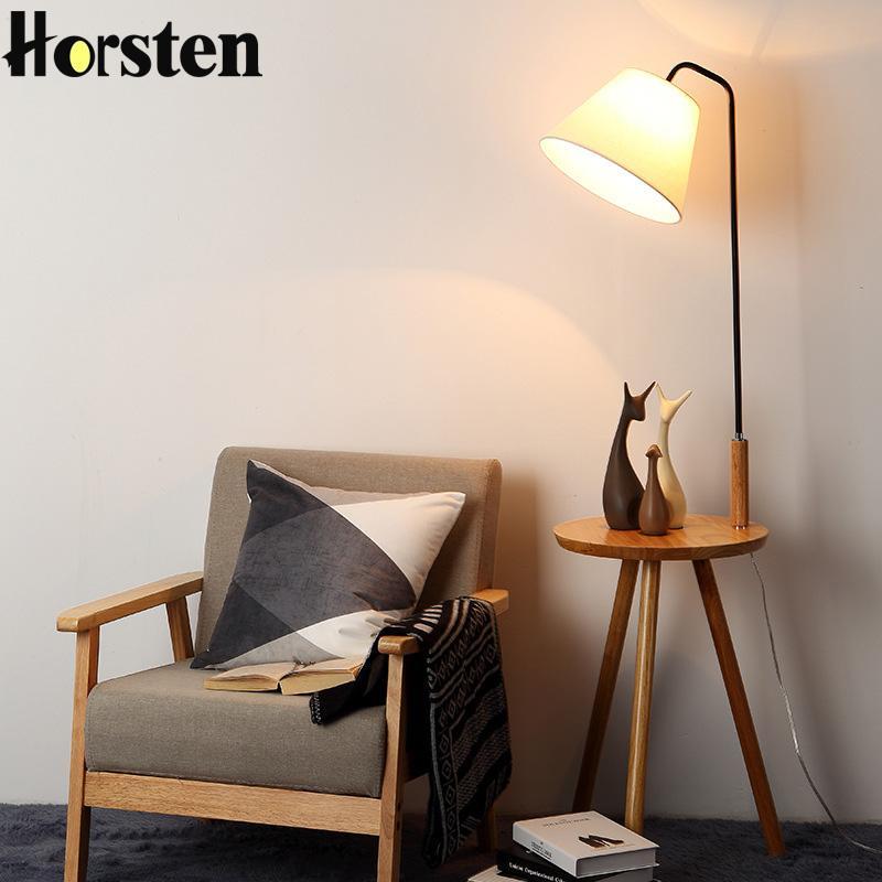 Großhandel Holz Stehleuchte Eiche Modernes Wohnzimmer Schlafzimmer
