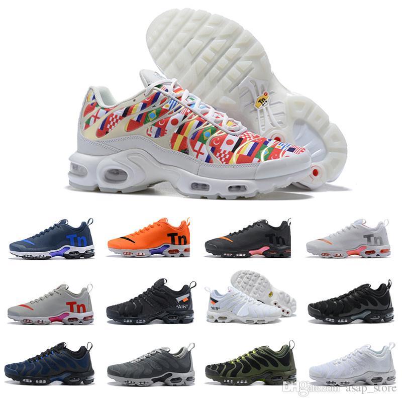 sports shoes 9726d b7fe7 ... Nike Air Max Plus Tn Se Hombres Zapatos Para Entrenamiento Tenis Zapatillas  De Deporte De Diseño Para Hombres Paquete Triple Chaussures Negros Tamaño  36 ...