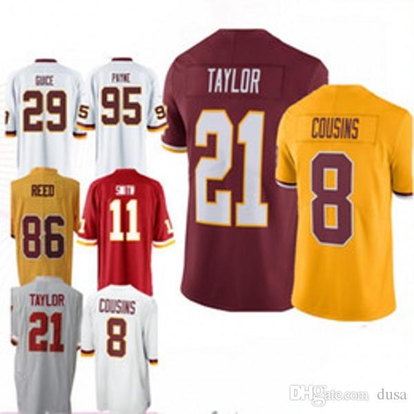 Washington 11 Alex Smith Redskins Jerseys 26 Adrian Peterson 91 Ryan ... bd5cb2f32
