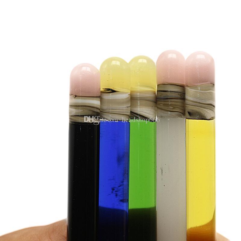 Commercio all'ingrosso 6 pollici di vetro Dabber a forma di matita stile Bong Dabber Tool i Dab Rig Glass Bong Glass Bubbler Water Pipe