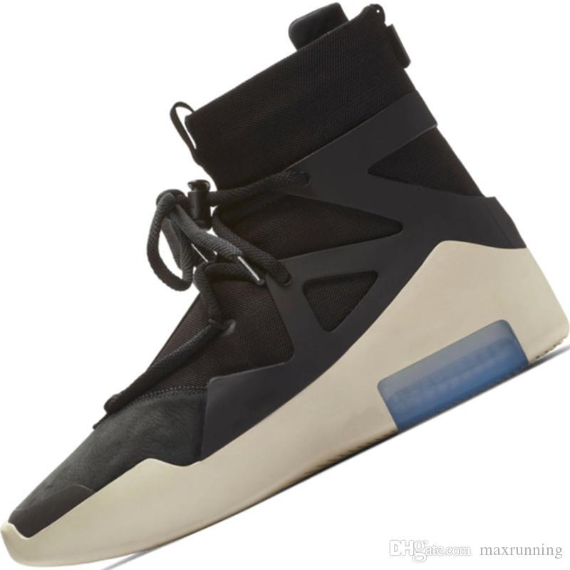 854e38206 Compre 2018 Shoe King FOG 1 Botas Deportivas De Cuero Genuino En La Parte  Media Superior Miedo A Dios 1 Construido En Zoom A  98.71 Del Maxrunning