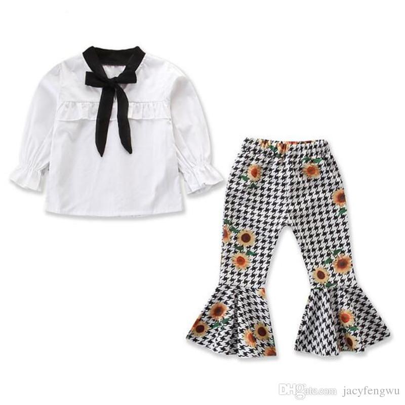 e93e20c888f Compre Boutique Ropa Para Niñas Ropa Para Bebés Ropa Para Niños Conjuntos  Arco Blusa Algodón Vestido De Verano Ropa Para Niños Camisetas Para Niños  ...