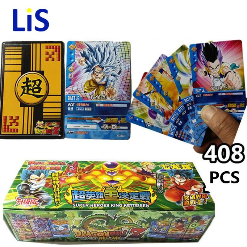 408pcs / lot Dragon Ball Z Super Saiyan Goku Collection Vegetal Freeza Jeu De Cartes Dragon Ball Z Action Figure Cartes Cadeau D'enfant Jouet
