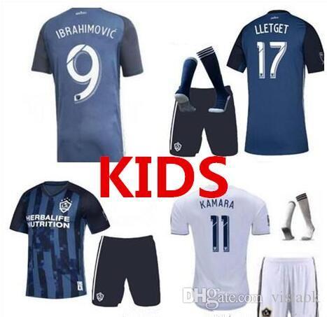 huge selection of 4fb42 f5e60 2019 2020 LA Galaxy KIDS Ibrahimovic Soccer jersey short 19 20 GERRARD Los  Angeles ALESSANDRINI GIOVANI ZARDES ROGERS jersey Suit