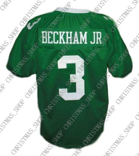 huge discount f4bcc d59dc Custom Odell Beckham Jr #3 Newman High School Men New Football Jersey Green  Stitched Any name number XS-5XL