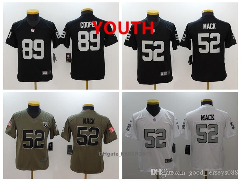 5f9724c75 Youth Oakland Football Raiders Jersey 52 Khalil Mack 89 Amari Cooper ...