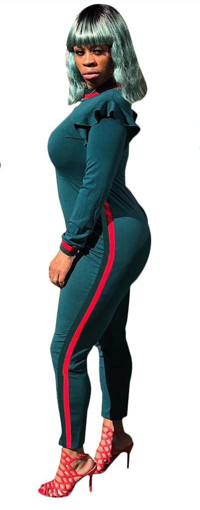 Q5063 Womens Jumpsuits Cross Border Multicolored Pants For Amazon