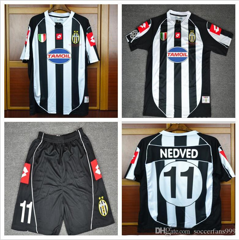 8c35a6f721a 2019 Thai 02 03 Italy Del Piero Nedved Trezeguet Davids Retro Soccer Jersey  2002 2003 Vintage Home Champion Final Football Shirts From Soccerfans999,  ...