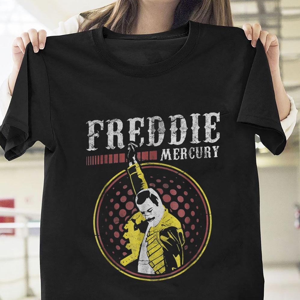 a75ce4204 QUEEN Freddie Mercury We Will Rock You T Shirt T Shirt Quotes Mens Dress  Shirt From Joyfulandhappy57, $11.63| DHgate.Com
