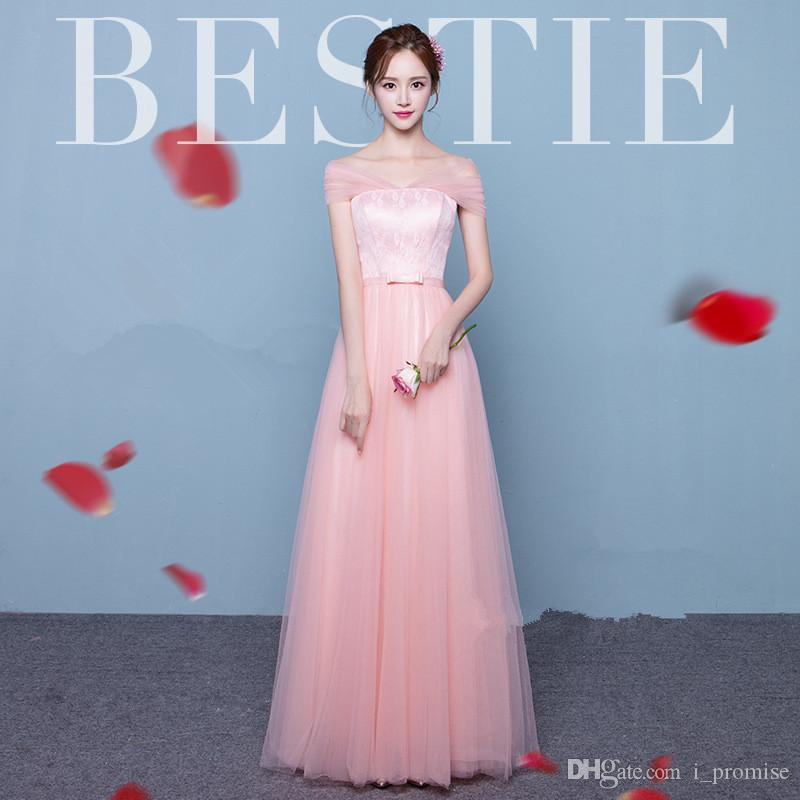 944c167fada Blush Pink Bridesmaid Dresses A Line 2019 Sweetheart Maid Of Honor Gowns  Formal Party Prom Dresses For Wedding Guest Dresses Custom Made Bridesmaid  ...