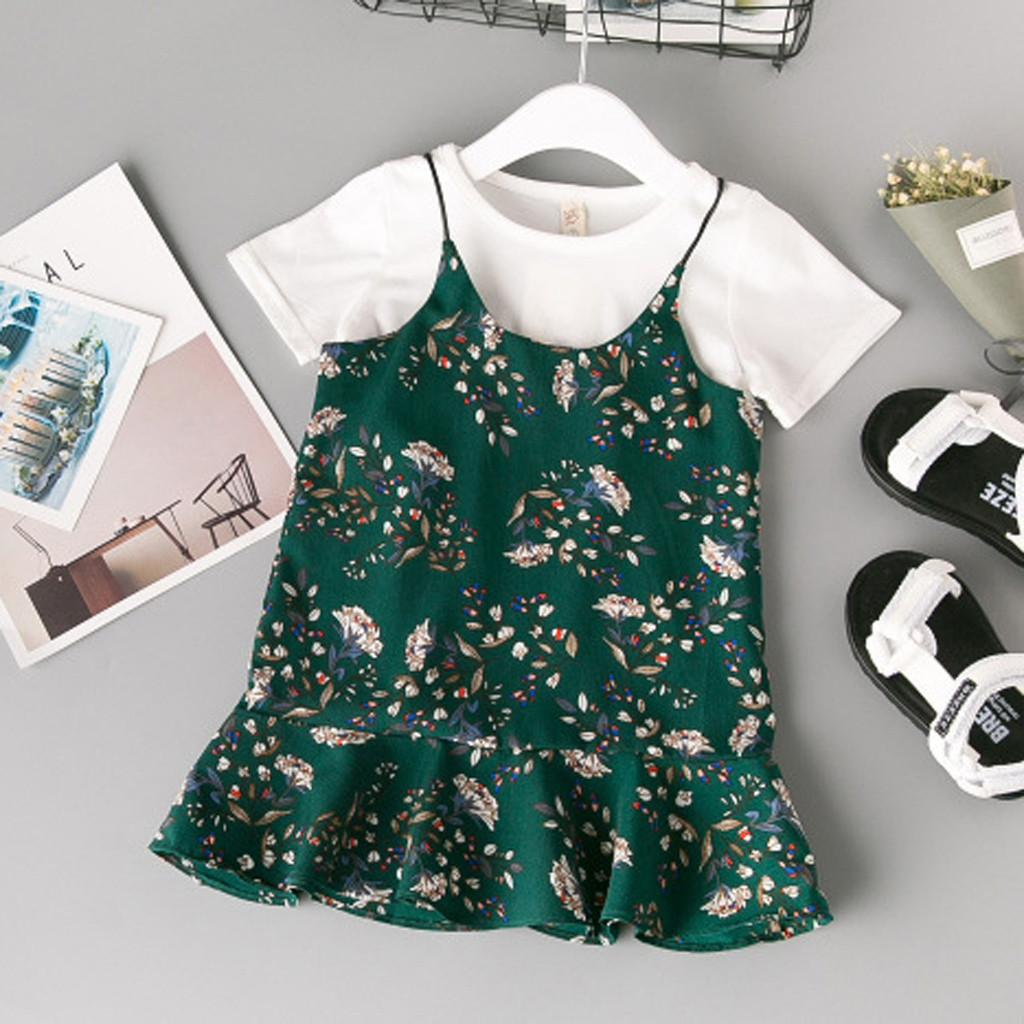 49802127c8c7 2019 Toddler Baby Girl Kids Clothes Floral T Shirt Tops Casual ...