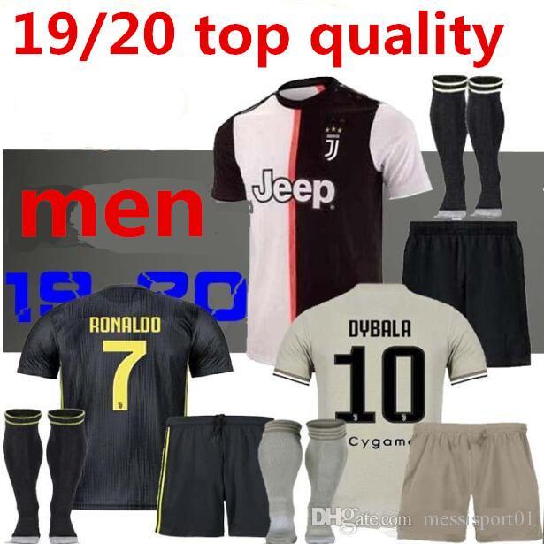 new arrival 41aa8 5d332 NEW JUVENTUS Soccer Jersey full kit with socks 2019/20 RONALDO DYBALA  MARCHISIO MANDZUKIC PJANIC 19/20 Juve football uniform Sales