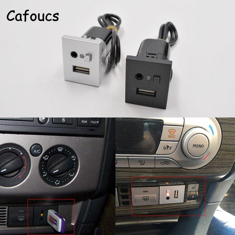 Car Accessories Aux Usb Interfaces Button With Mini USB Cable For Ford  Focus Cd Dvd Players Usb Aux