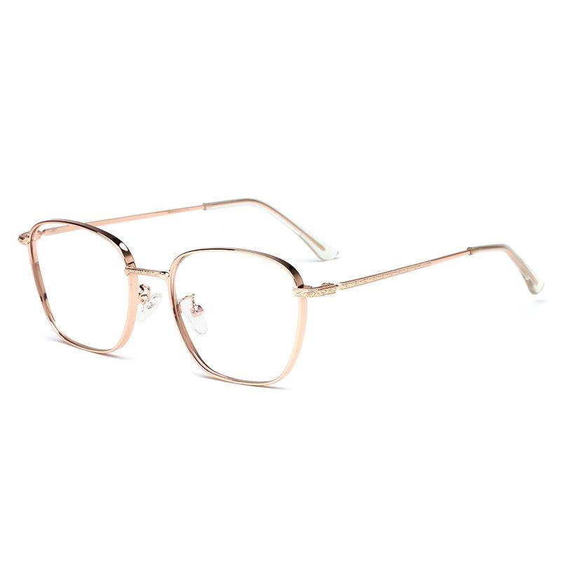 a5803b37f04f 2019 New Glasses Frame Retro Square Metal Frames Optical Cheap ...