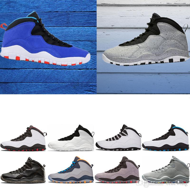 02b90504624d Mens Basketball Shoes 10 Tinker Cement 10s Mens Shoes Bobcats Grey Chicage  Cool Grey Iam Back Powder Blue Trainers Sports Sneaker Size 8 13 Designer  Shoes ...