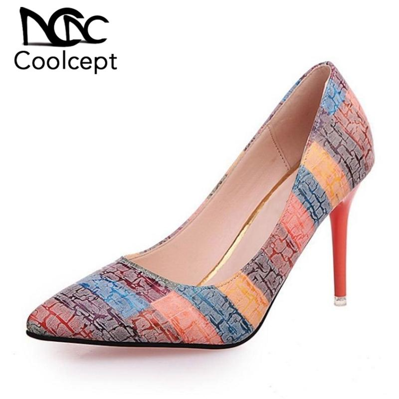 Dress Coolcept Women Pumps Party Wedding Shoes Super High Heel Pointed Toe  Chaussure Femme Talon Brand Ladies Shoes Size 35 39 Casual Shoes Women Shoes  From ... cf0275edb5ec