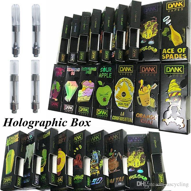 G5 Dank Vapes Cartridges Packaging Hologram 3D Box Vape Carts 1ml Ceramic  Empty Vape Pen Cartridges E Cigarette Tanks Atomizer 510 Battery