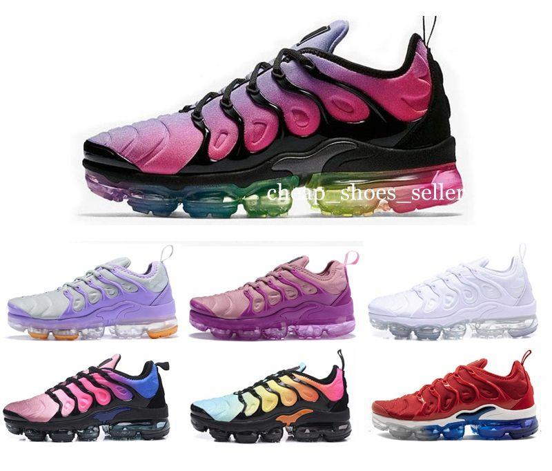 buy popular 3e58b f82cf 2019 New Air Chaussures Plus TN Mujer Zapatillas Deportivas Maxes Moda  Chicas Deportes Blanco Rosa Zapatillas Deportivas Para Mujer De Diseño  Zapatillas De ...