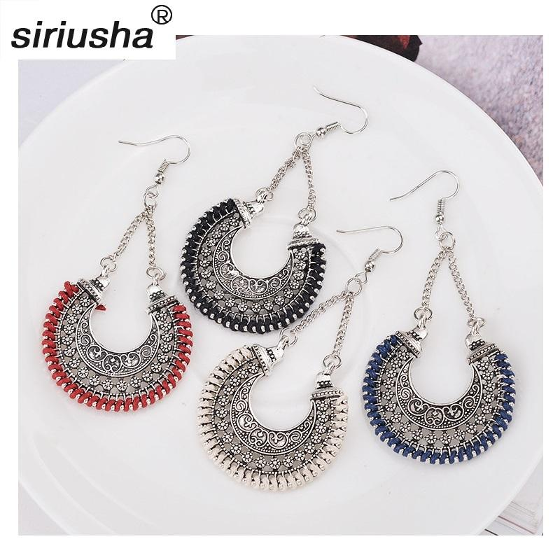 9e153f761 2019 Popular European And American Exaggerated Hollow Carved Earrings  Vintage Metal Woven U Shaped Flower Basket Ear Accessories Y916 From  Hongyu95272, ...
