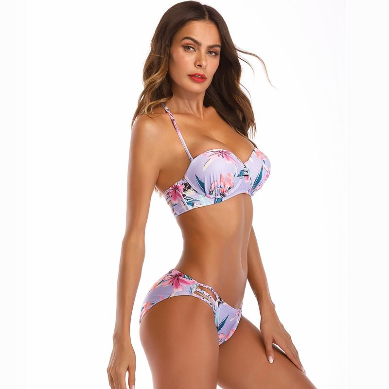 695a1ee43b 2019 Sexy Floral Women Underwire Padded Push Up Bra Bikini Set Swimsuit  Bathing Suit Swimwear Beachwear Swimsuit Bathing Swimwear From Maoku, ...