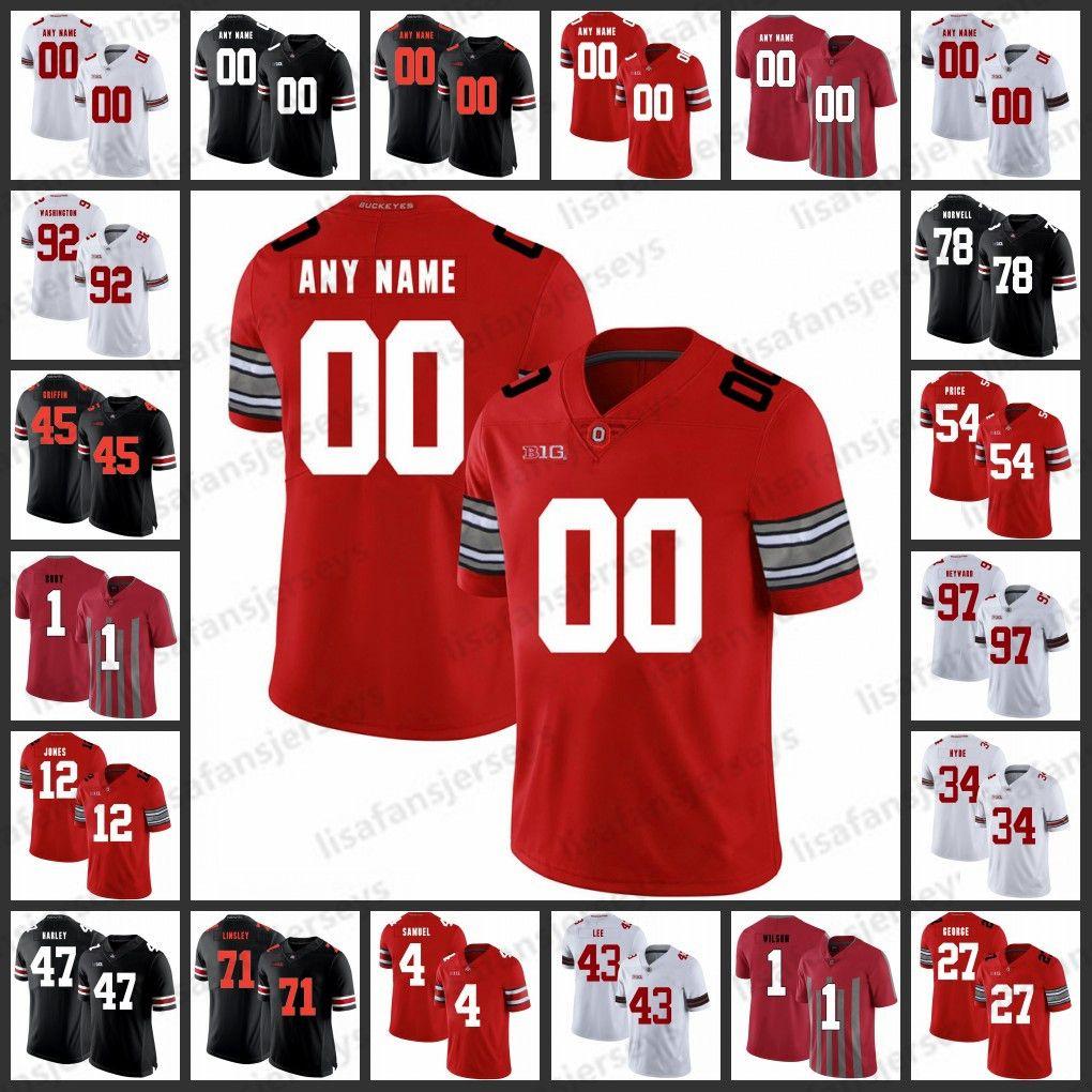 cf2dff446ee 2019 Custom Ohio State Buckeyes Jerseys 15 Ezekiel Elliott 45 Archie Griffin  7 Dwayne Haskins Fields Stitch College Football NCAA Jersey From ...