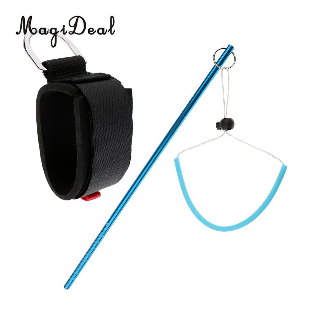 MagiDeal Safety Padded Underwater Scuba Diving Snorkeling Camera Wrist Strap Band + Dive Lobster Stick Pointer Rod Noise Maker