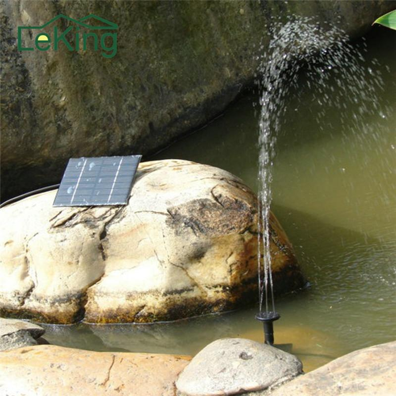 Solar Mini Fountain Solar Water Pump Artificial Water Fountain Decorative For Family Garden Park Swimming Pond Outdoor