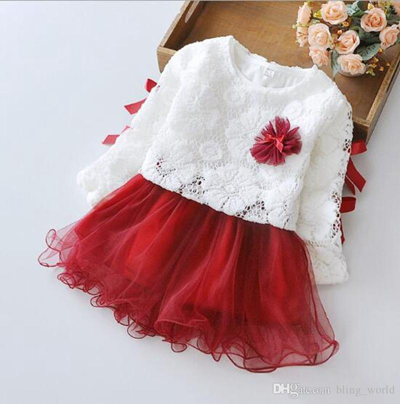 edf7c0e2 2019 Girls Dresses Set Baby Long Sleeve Dresses Coat Suit Girl A Flower Princess  Dress Toddler Spring Dress Fashion Kids Clothes YL970 From Bling_world, ...