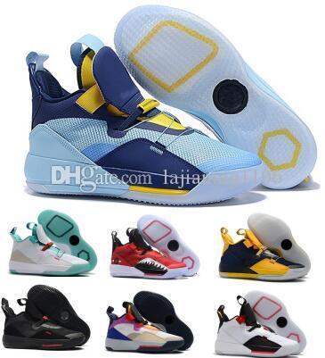 8520cf913b6 Acquista 33 33s Scarpe Da Basket Sneakers Uomo Uomo Uomo 2019 Blu Visibile  Utility Future Flight Guo Ailun Tech Pack XXXIII PE Scarpe Sportive Design  A ...