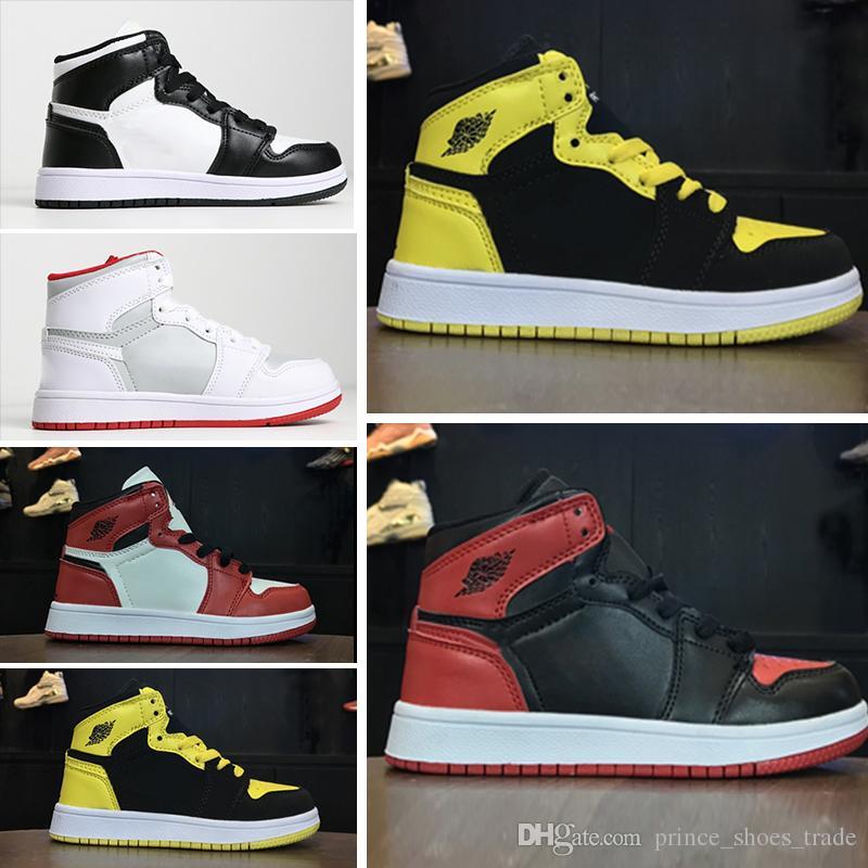 outlet store 3a5e0 1b50d Großhandel Nike Air Jordan 1 Retro Gemeinsam Signiert High OG 1s Kinder  Basketballschuhe Chicago 1 Kleinkind Mädchen Sneaker Kleinkinder New Born  Baby ...