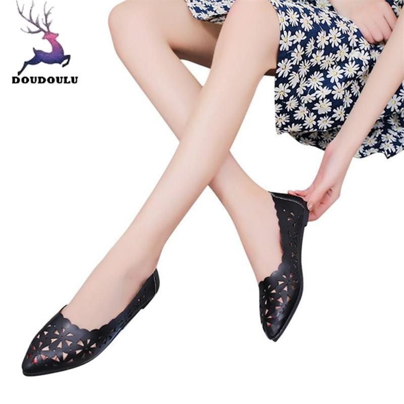 dc57d9d51fe8 Designer Dress Shoes Women Shallow Hollow Out Flower Shape Nude Pointed Toe  Woman New Summer Women Zapatos Mujer Wedge Shoes Casual Shoes For Men From  ...