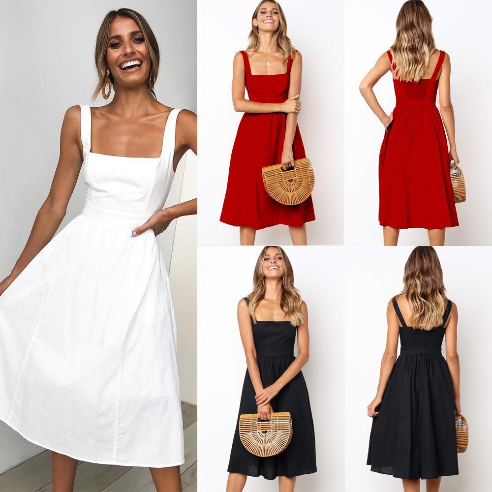 52dbd96f51a1 Express Sales Amazon Explosive Money Best Sellers Minimalism Camisole Sexy  Dew Back Dressd Blue Dress Girls Dresses From Wsj520, $22.94| DHgate.Com