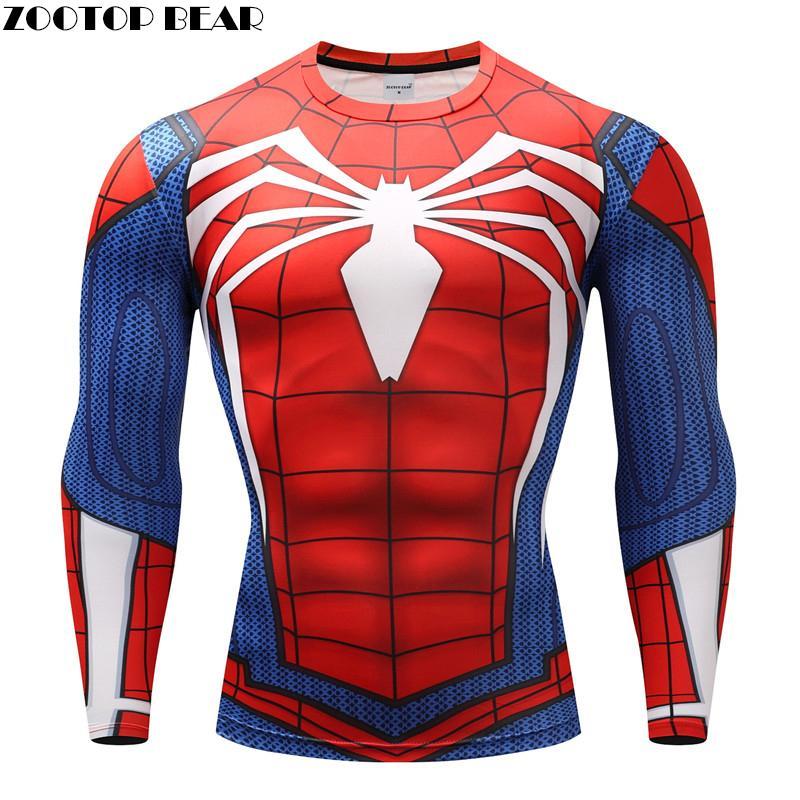 8f3bb80c70d156 Spiderman T Shirts Men Compression T Shirts Fitness Spider Man T Shirts  Bodybuilding Top Hot Sale Crossfit Rashguard Brand T Shirts Designs Online T  Shirt ...